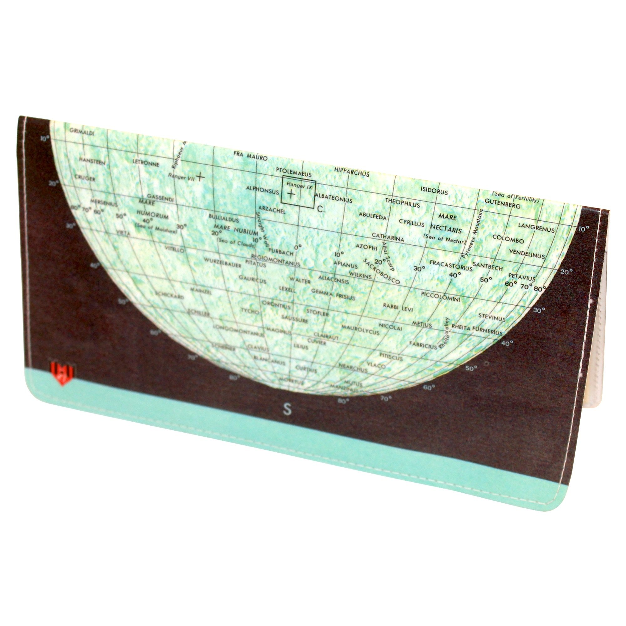 Moon Map Checkbook Cover