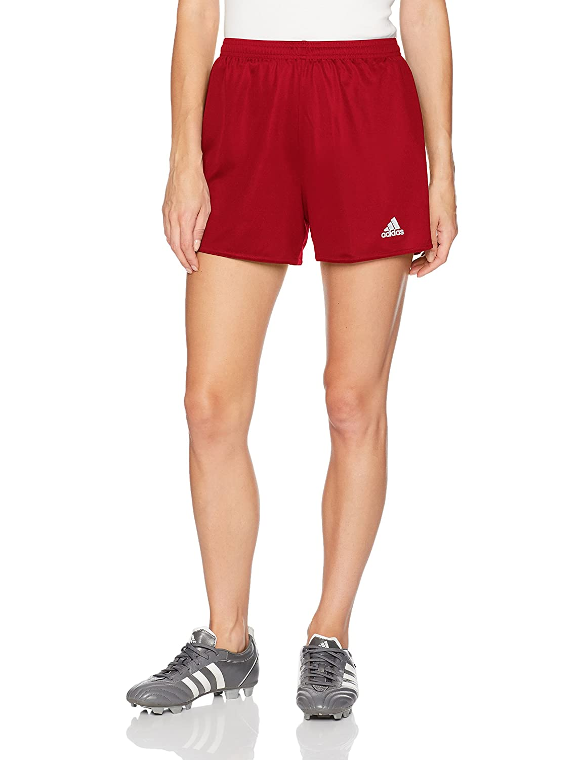 AdidasレディースサッカーParma Shorts B010DKXHEC X-Small|Power Red/White Power Red/White X-Small