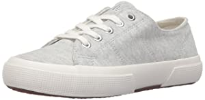 Lauren Ralph Lauren Women's Jolie Fashion Sneaker, Light Grey Heather Sweatshirt Fleece, 8 M US