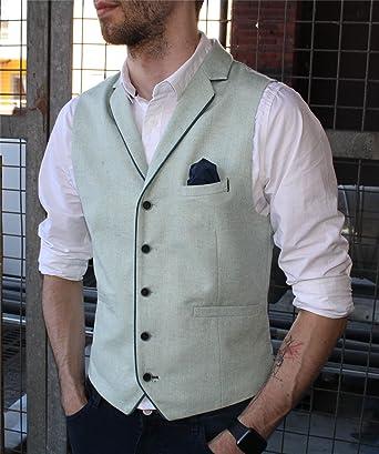 Gilet boutons tweed chevrons habillé décontracté laine vintage rétro homme   Amazon.fr  Vêtements et accessoires 827cbd559b9