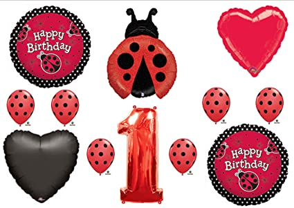 LADYBUG 1st First BIRTHDAY PARTY Balloons Decorations Supplies NEW