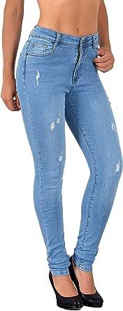 By-tex #J25- Pantalones vaqueros de corte recto para mujer, muchas tallas incluidas las tallas grandes 54, 56, 58