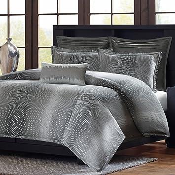 Metropolitan Home Shagreen Mini Comforter Set, Queen, Grey