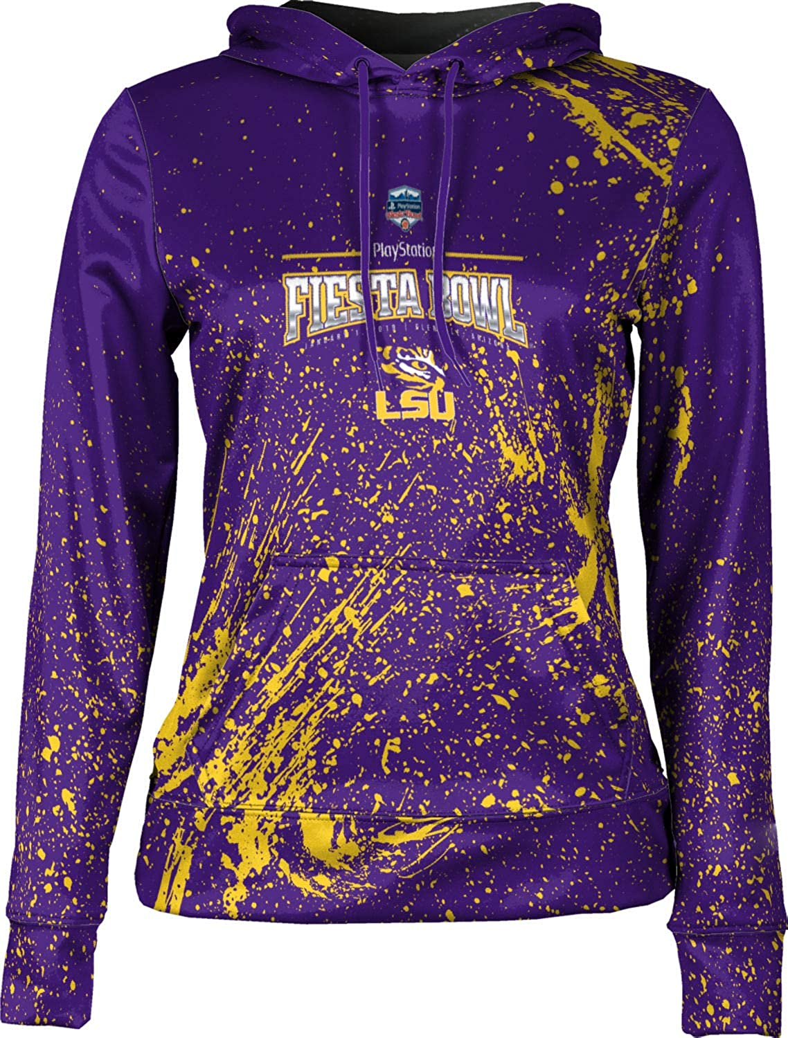 Fiesta Bowl 2019 Splatter School Spirit Sweatshirt LSU University Girls Pullover Hoodie