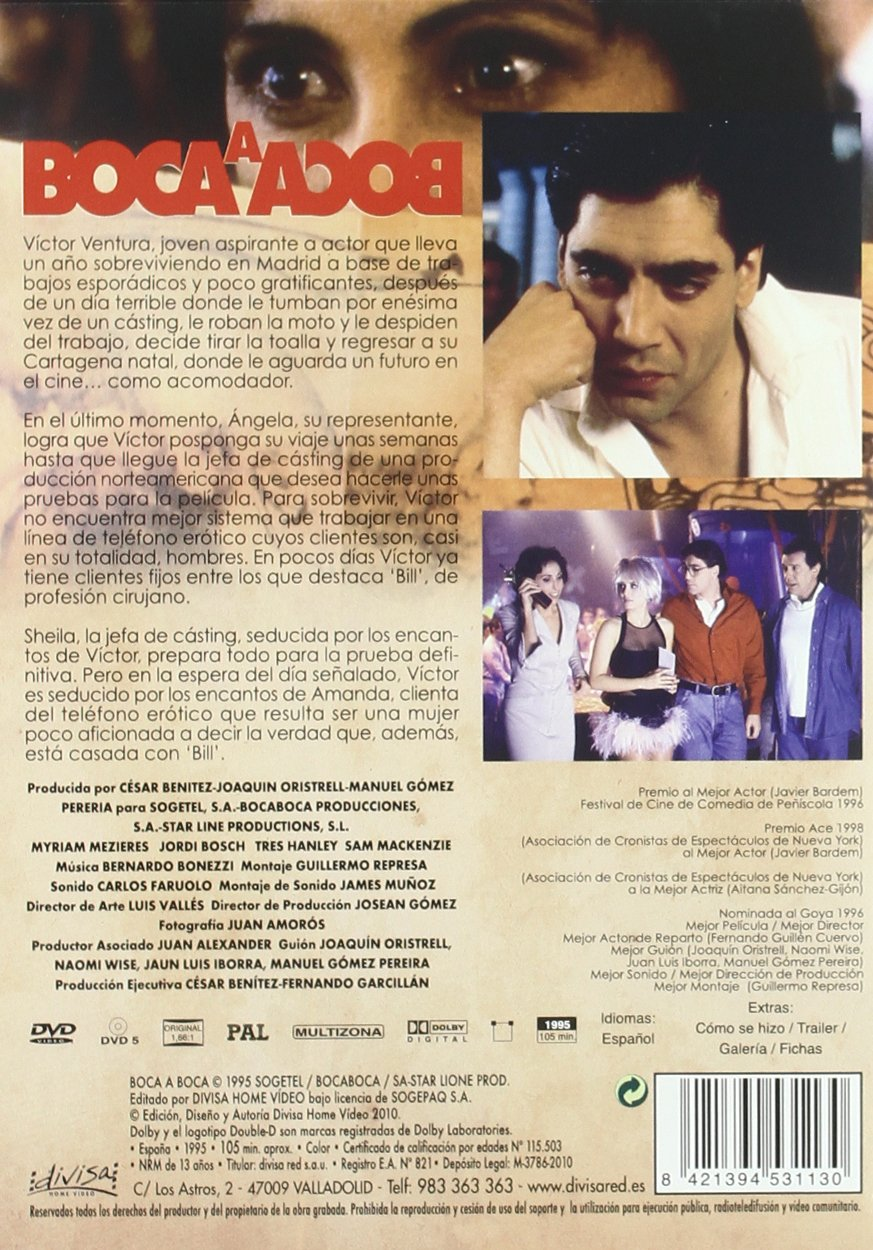 Amazon.com: Boca A Boca (1995) (Import Movie) (European Format - Zone 2): Movies & TV
