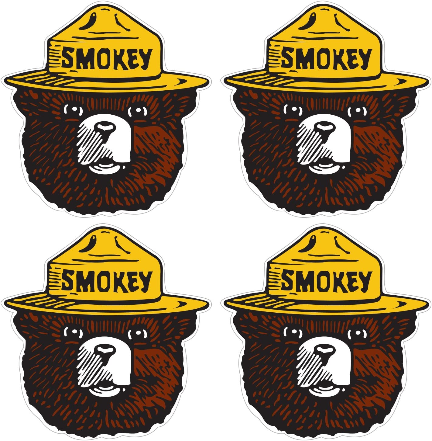 Vintage SMOKEY THE BEAR Stickers Wild Fire Firefighting Collectible