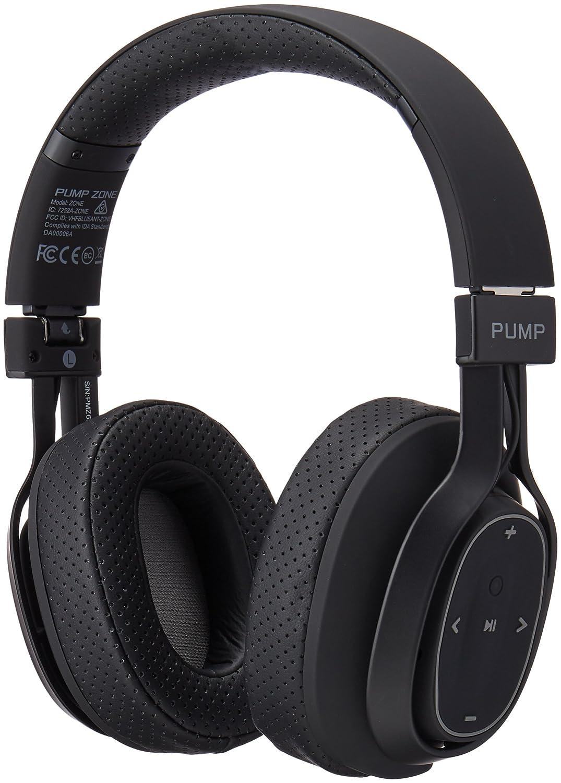 BlueAnt - Pump Zone Over Ear HD Wireless Headphones, 30+ hrs Battery, Mega Bass and Enhanced Sound Purity (Black)