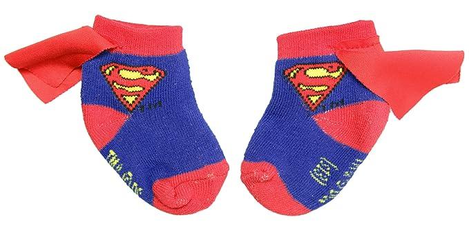 Superman calcetines de bebé con capa azul / rojo: Amazon.es: Ropa y accesorios