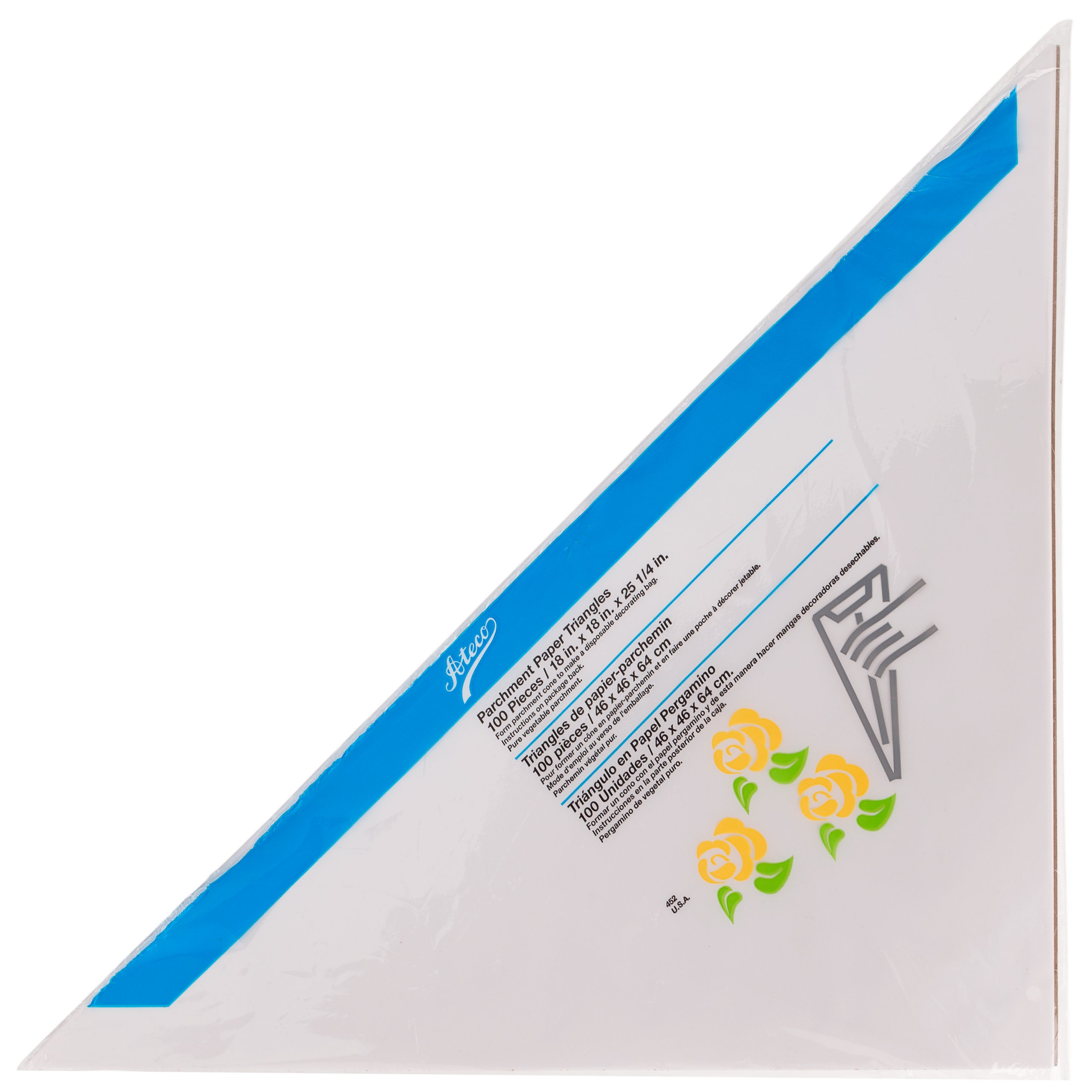 Ateco 452 Large Parchment Triangle, 100-Pack