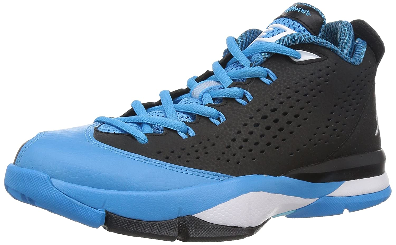 half off 1f79d e30cb Amazon.com   Nike Jordan Kids Jordan CP3.VII BG Black Wht Dk Pwdr Bl Plrzd  Bl Basketball Shoe 6 Kids US   Basketball