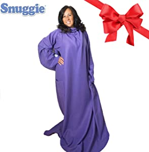 SNUGGIE- The Original Wearable Blanket That Has Sleeves, Warm, Cozy, Super Soft Fleece, Functional Blanket with Sleeves & Pockets for Adult, Women, Men, As Seen On TV- Purple