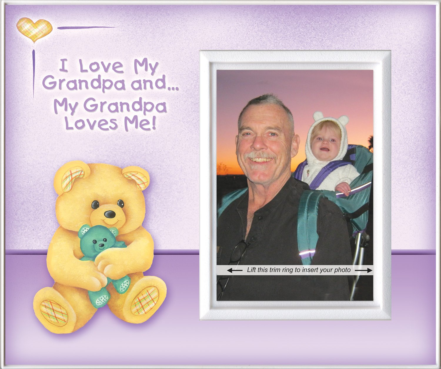 Amazon.com : I Love Grandpa & Grandpa Loves Me! - Picture Frame Gift ...