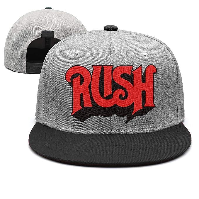 4bc92b92f02 Rush-Original-Logo- Strapback Hat Men Women Street Dancing Black Flat Bill