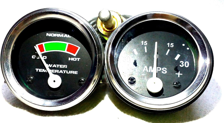 Massey Ferguson Traktor Messgerät Set Temperatur Amperemeter Passt In Mf 35 50 65 135 150 Auto