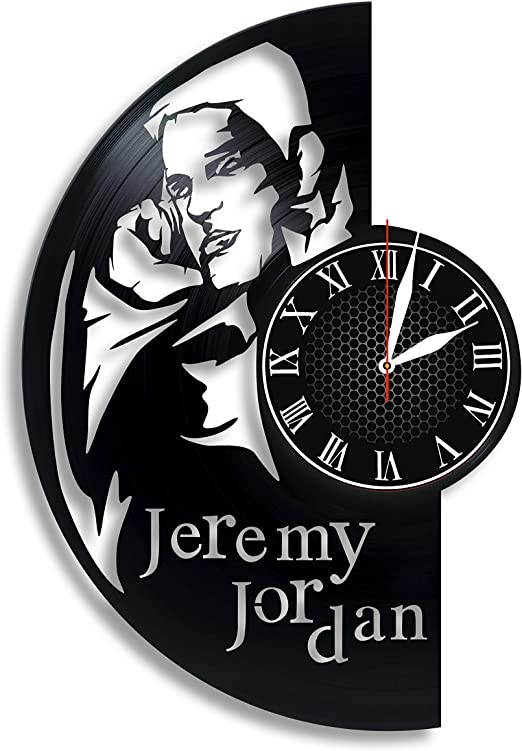 amazon com jeremy jordan actor handmade vinyl wall clock get unique gifts presents for birthday christmas ideas for boys girls men women adults him and her sport unique design home jeremy jordan actor handmade vinyl wall