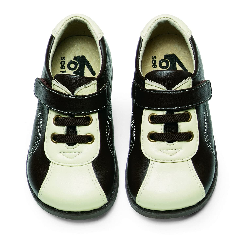 See Kai Run Elliott Toddler Boys Shoes Sneakers Brown Cream Leather