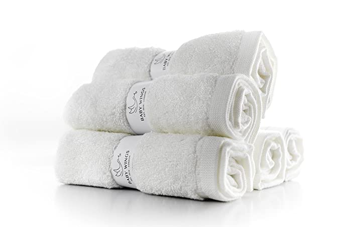 100% orgánicos bambú bebé toallas toallitas - Juego de 5 toallas de bambú de respetuoso con el medio ambiente de baño bebé reutilizable bebé Toallitas Viaje ...