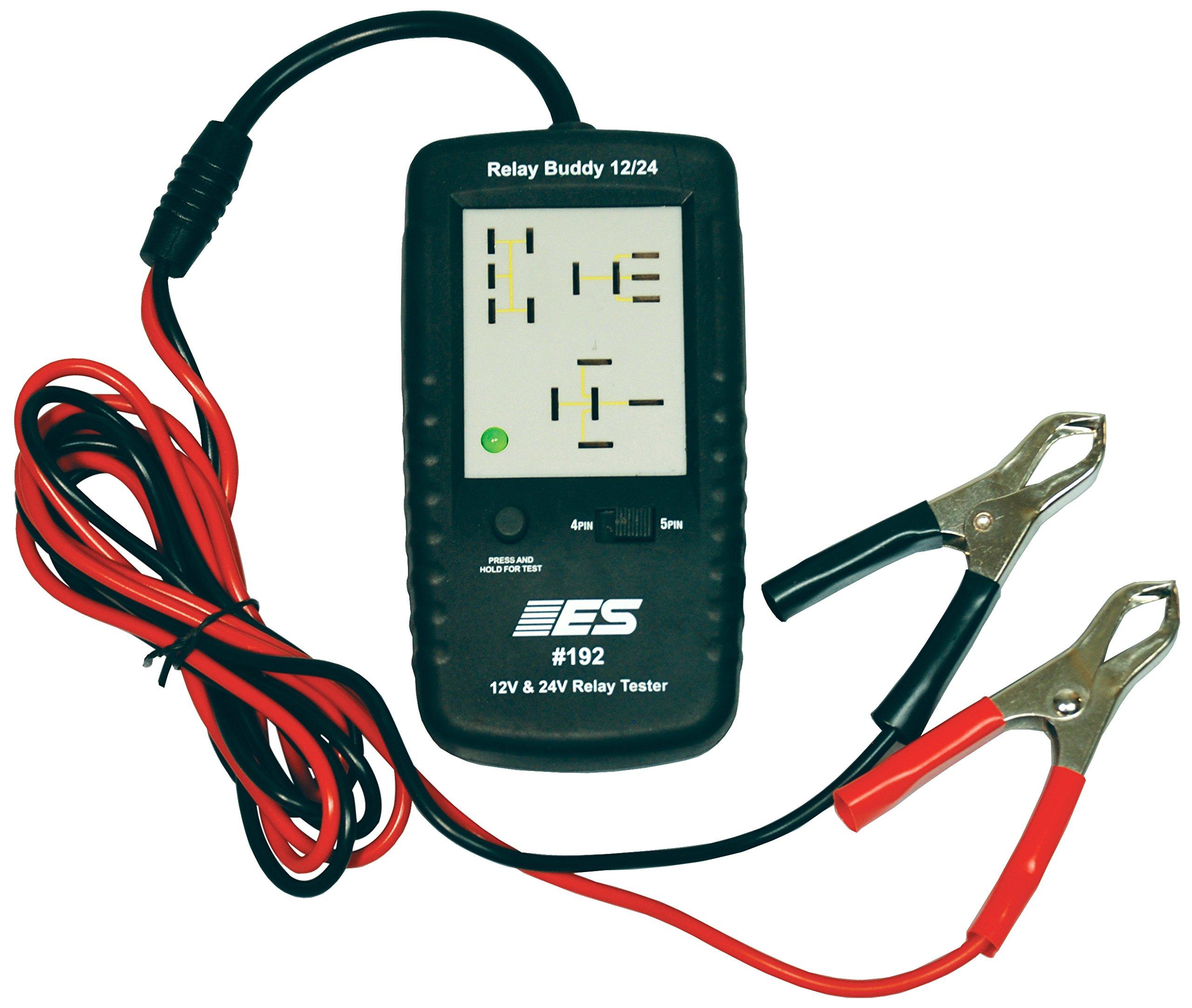 Electronic Specialties 192 Black 2.5'' x 5'' 12/24V Diagnostic Relay Buddy