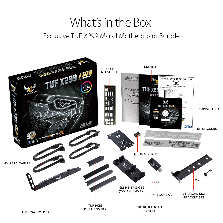 Asus Tuf X299 Mark 1 Lga2066 Ddr4 M2 Usb 31 Dual Lan Atx Cable Wiring Diagram