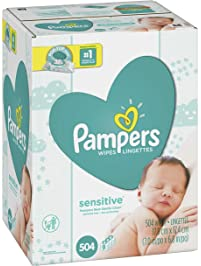 Pampers Sensitive Water-Based Baby Diaper Wipes, Hypoallergenic and Unscented