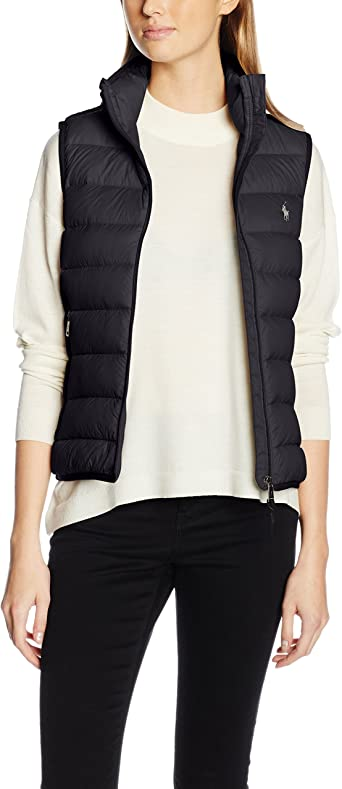 Polo Ralph Lauren V32 WSW Vest, Chaleco para Mujer, Negro ...