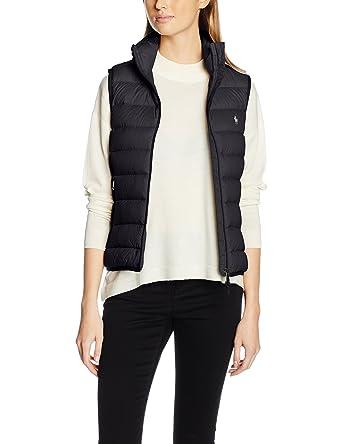 Polo Ralph Lauren V32 WSW Vest, Chaleco para Mujer, Negro Black ...