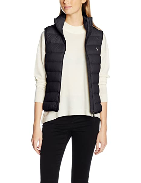 Polo Ralph Lauren V32 WSW Vest, Chaleco para Mujer, Negro Black A1P44, Large: Amazon.es: Ropa y accesorios