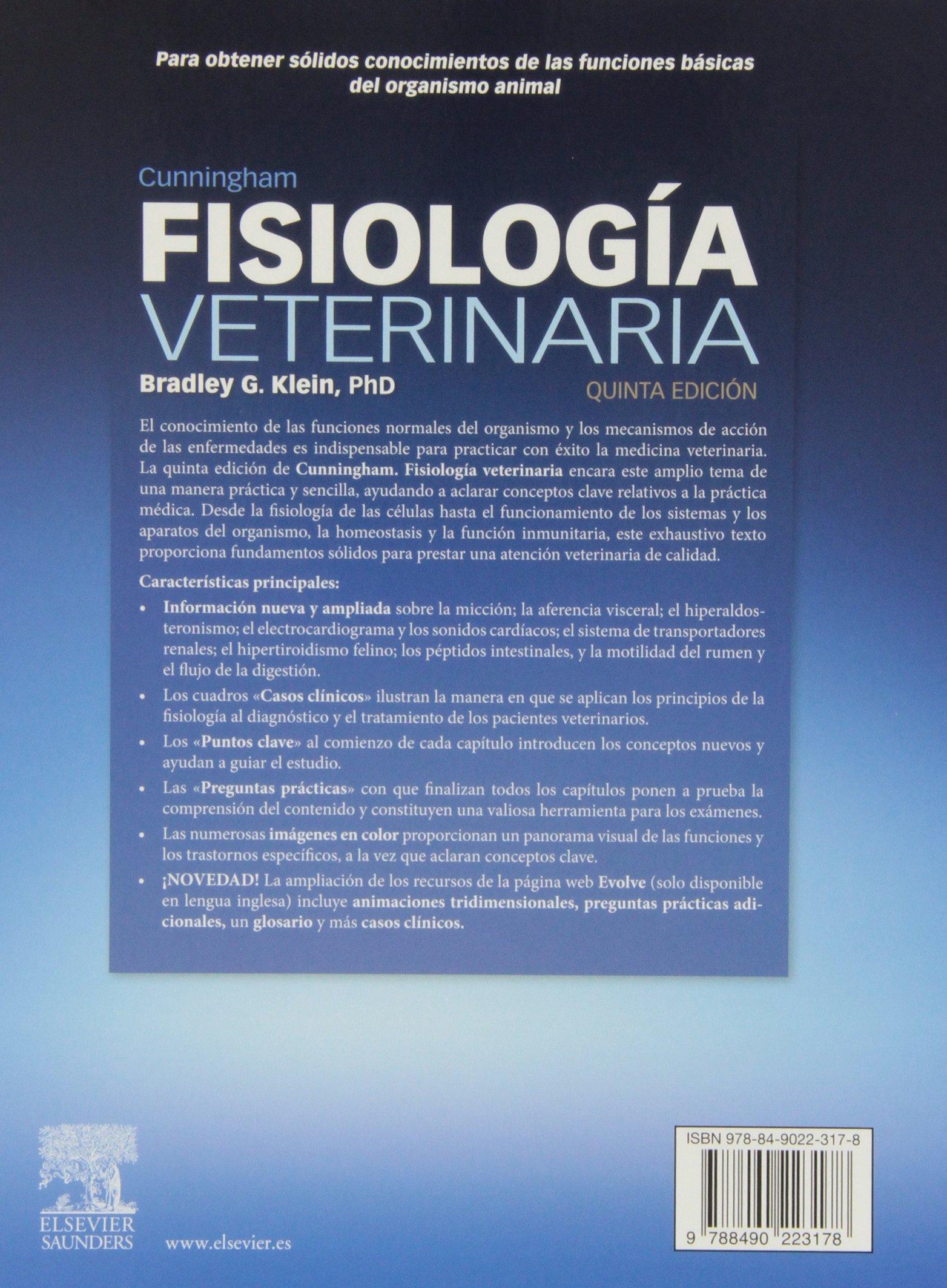Cunningham Fisiología Veterinaria 5ª Ed Spanish Edition 9788490223178 Klein G B Books