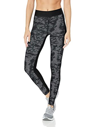 f656f8914a388 Under Armour Hg Printed Legging - Black/White/Metallic Silver, X-Small