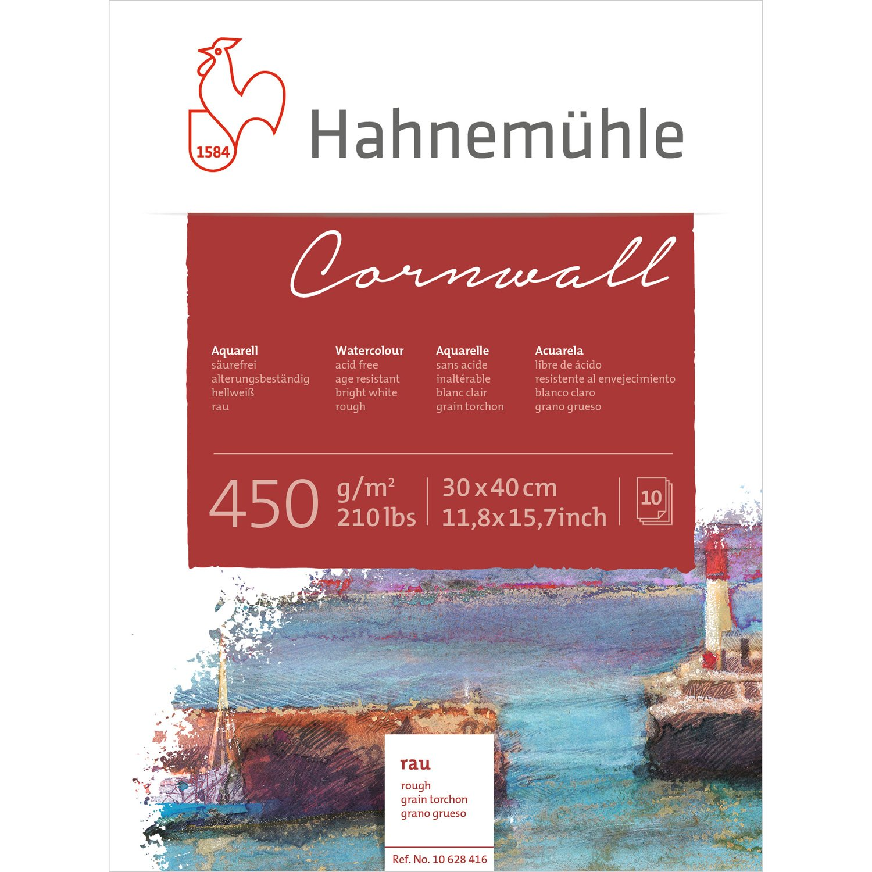 Aquarellblock Cornwall rau 450g/m², 30x40cm, 10Blatt Hahnemühle