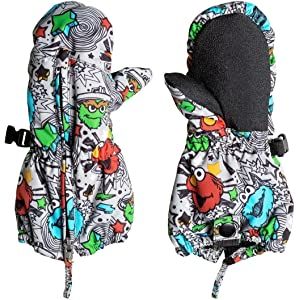 10a1ea3f5b129 Amazon.com   Quiksilver Boys Indie - Snow Mittens Snow Mittens Black ...