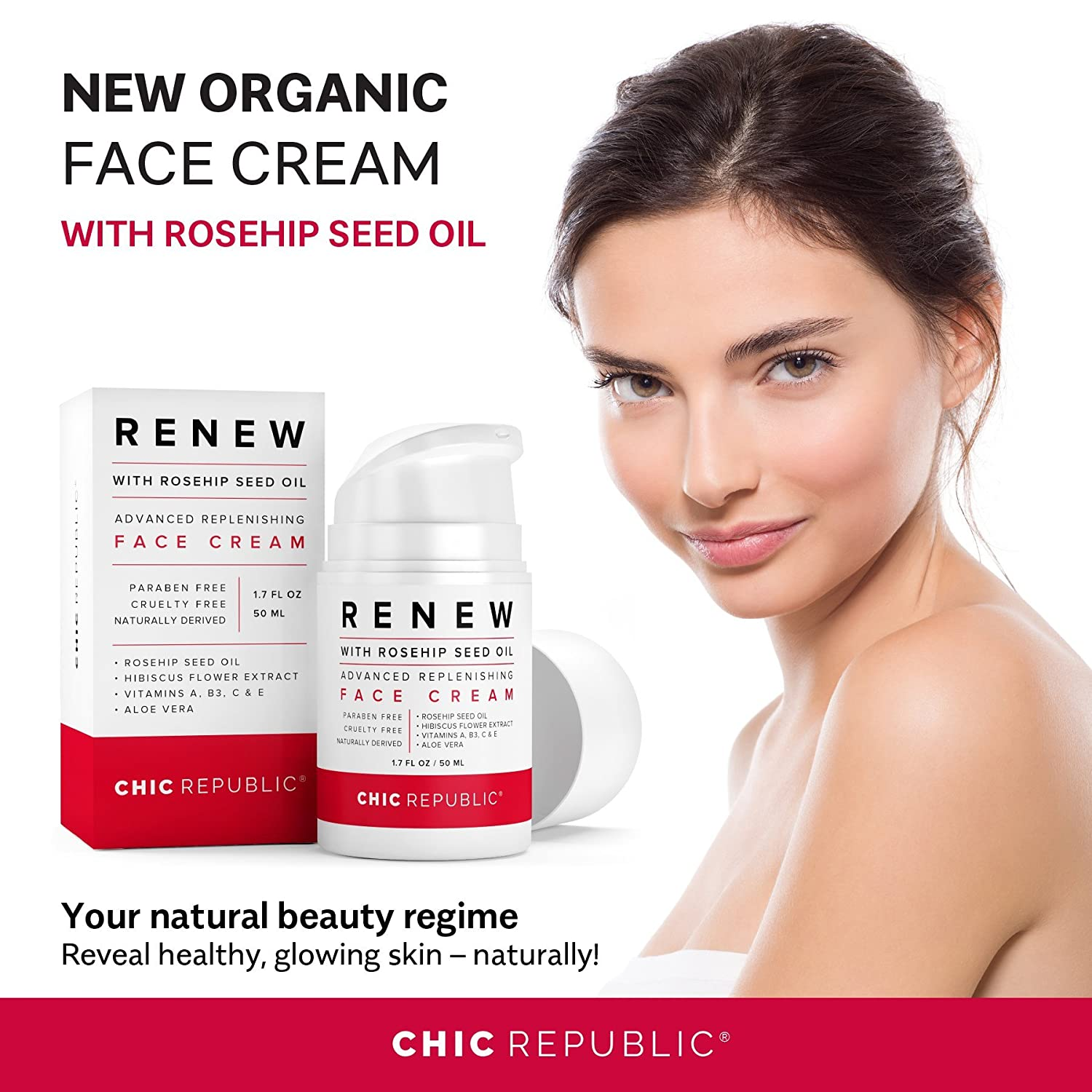 Anti Aging Face Cream With Rosehip Seed Oil Organic Face