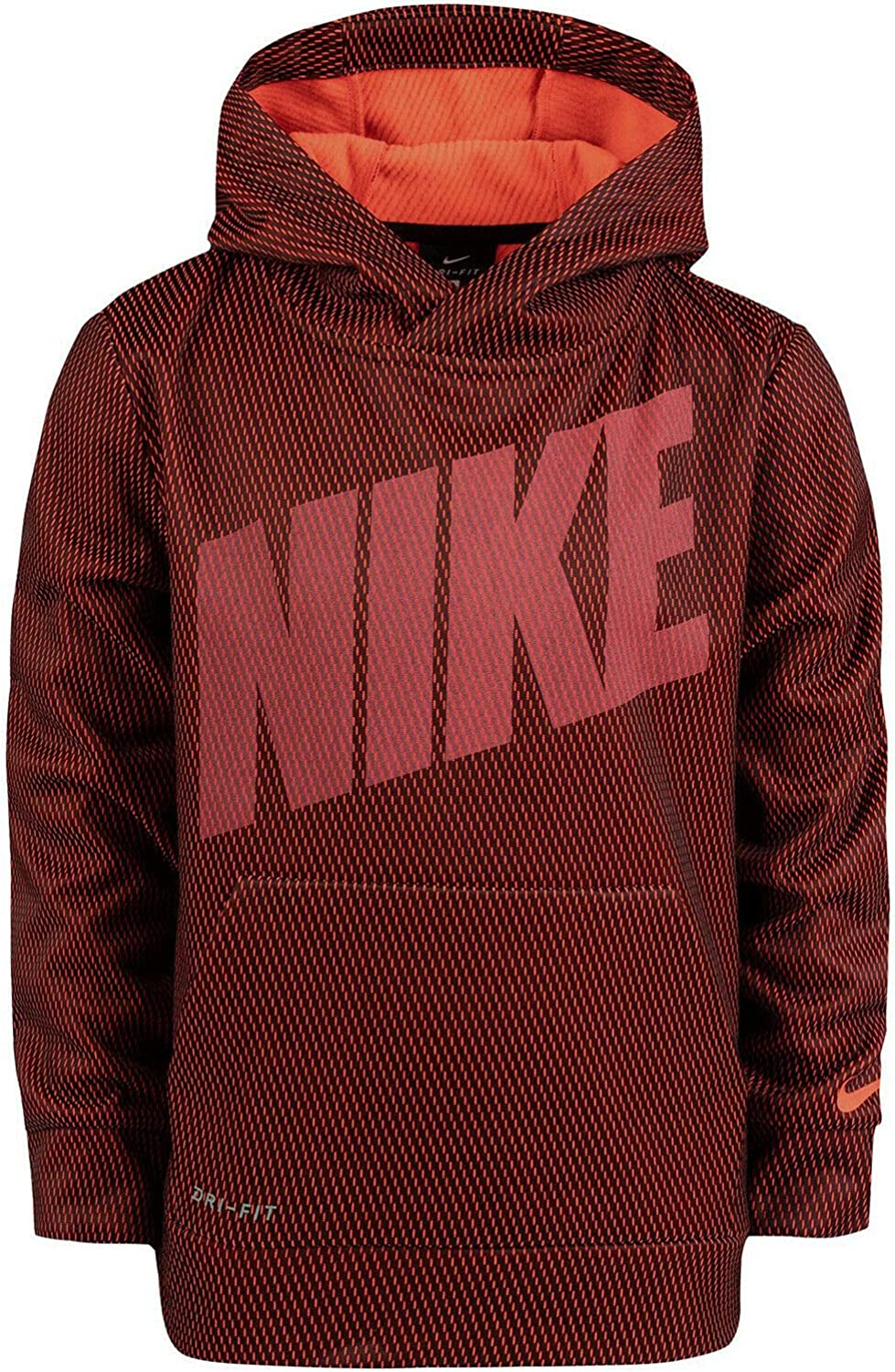 2T Black//Red Nike Boys Therma-Fit Pullover Hoodie