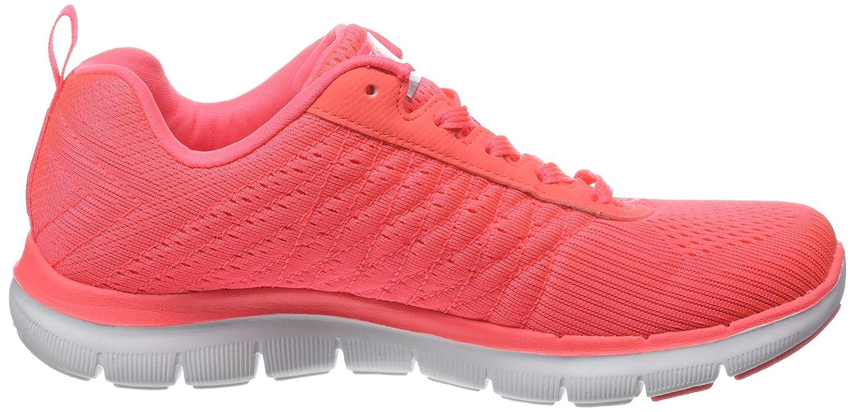 Skechers Women's Flex Appeal 2.0 Fashion Sneaker B01DBWELMG 40 M EU|Coral Fluo