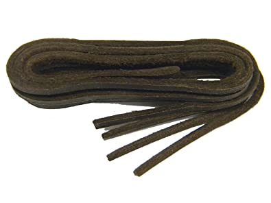 Amazon.com: BROWN Replacement Boat Shoe Leather Shoelaces - 2 Pair ...
