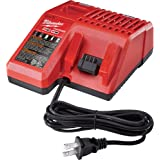Milwaukee M12 & M18 Replacement Multi-Voltage Battery Charger - Charges Compact Batteries In 30 Minutes And Extended Capacity