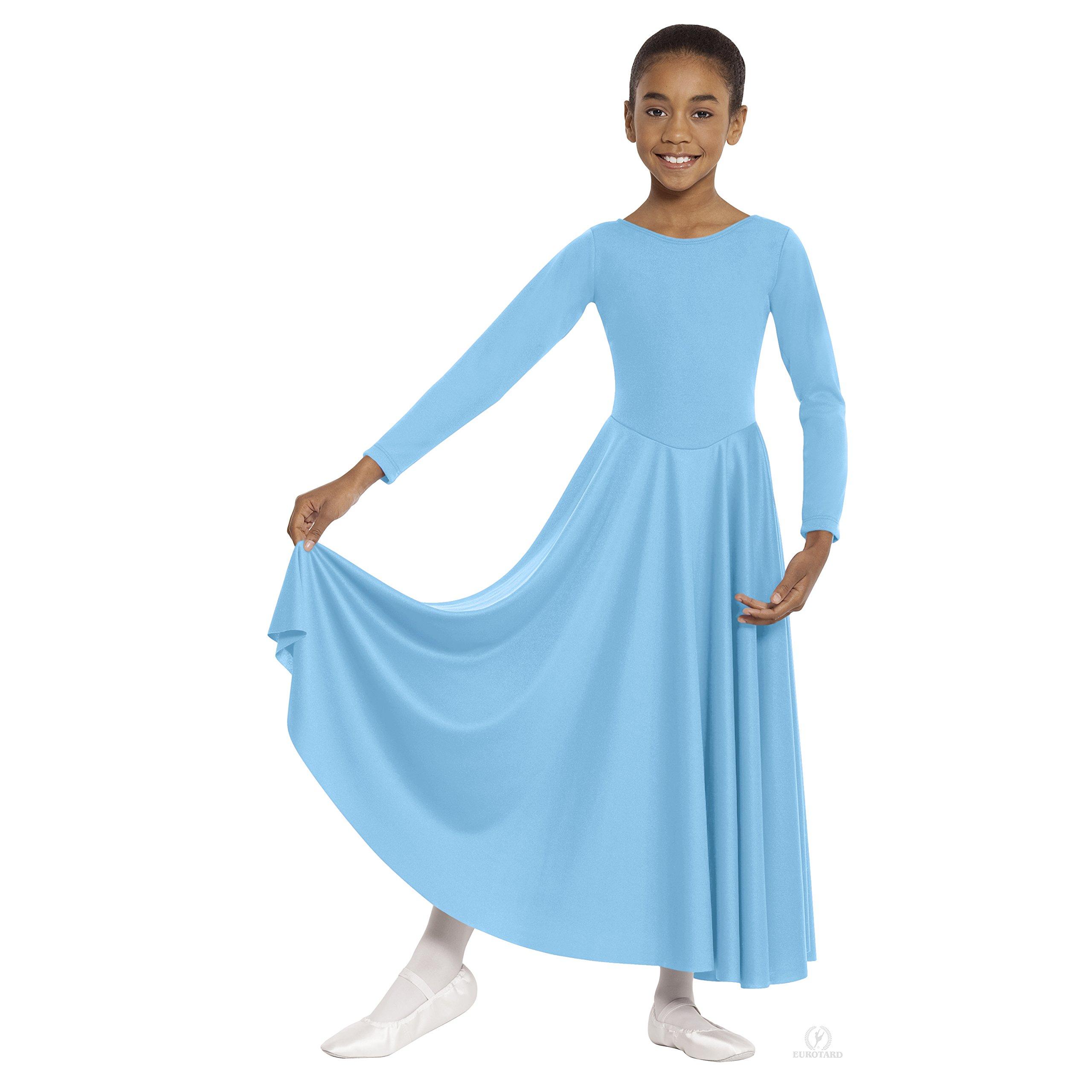 Eurotard  13524 Child Dance Dress (Lieutenant Blue, Small) by Eurotard