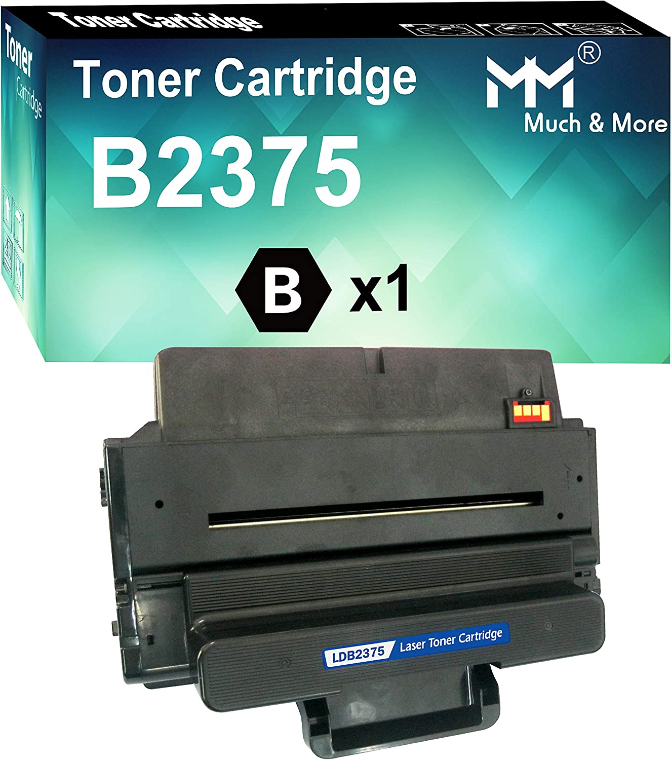 MM MUCH & MORE Compatible Toner Cartridge Replacement for Dell C7D6F 593-BBBJ 593-BBBI 8PTH4 B2375dnf B2375 B2375dn B2375dnf B2375dfw (1-Pack, Black, High Yield)