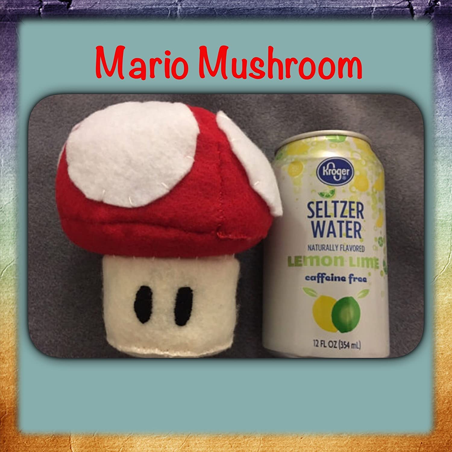Red Mushroom Super Mario Power Up Plush Doll ~Hand-sewn with love
