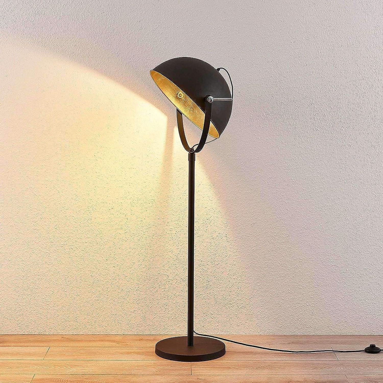 Lampenwelt Stehlampe Muriel Modern In Schwarz Aus Metall U A