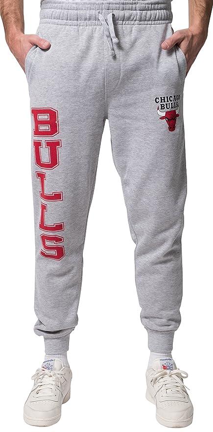 NBA Chicago Bulls Men s Jogger Pants Active Basic Soft Terry Sweatpants 556a66e2dbd2