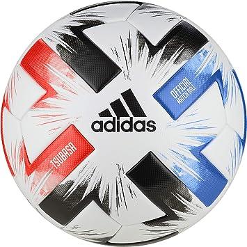 adidas Tsubasa Pro Soccer Ball, Mens, White/Solar Red/Glory Blue ...