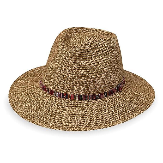 1cf37c64f68 Wallaroo Hat Company Women s Sedona Fedora - Camel - UPF 50+