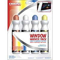 Chroma 000144 4 Color Pack Window Markerz - 2.05 oz.