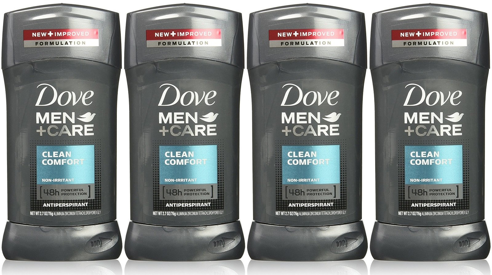 Dove Men Plus Care NonIrritant Antiperspirant, Clean Comfort, 2.7 Ounce (Pack of 4)