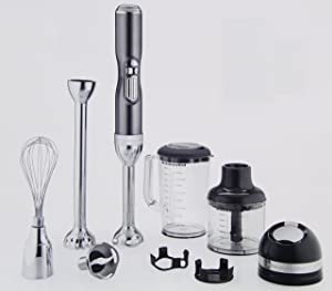 KitchenAid KHB3581SR Pro Line 5 Speed Hand Blender, Sugar Pearl Silver