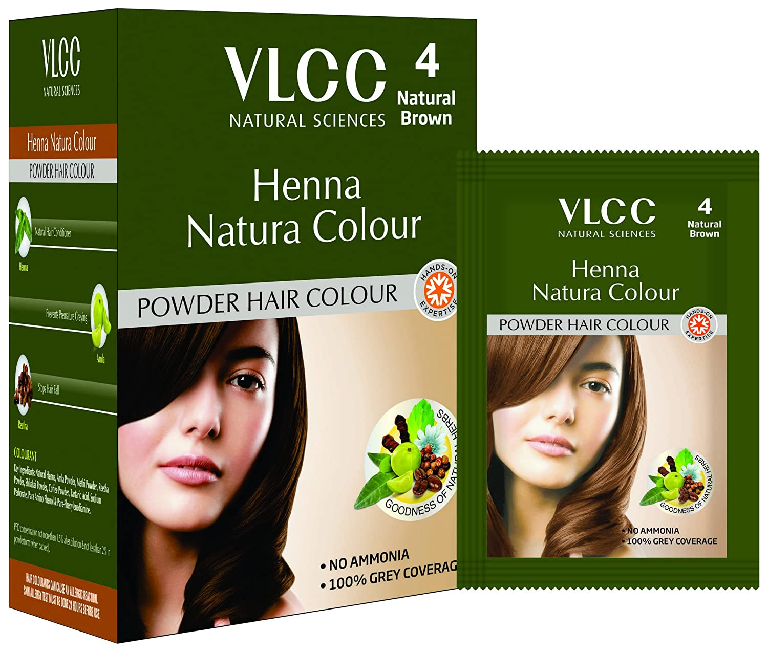 Buy VLCC Henna Natura Colour Natural Brown Online at Low Prices in ...