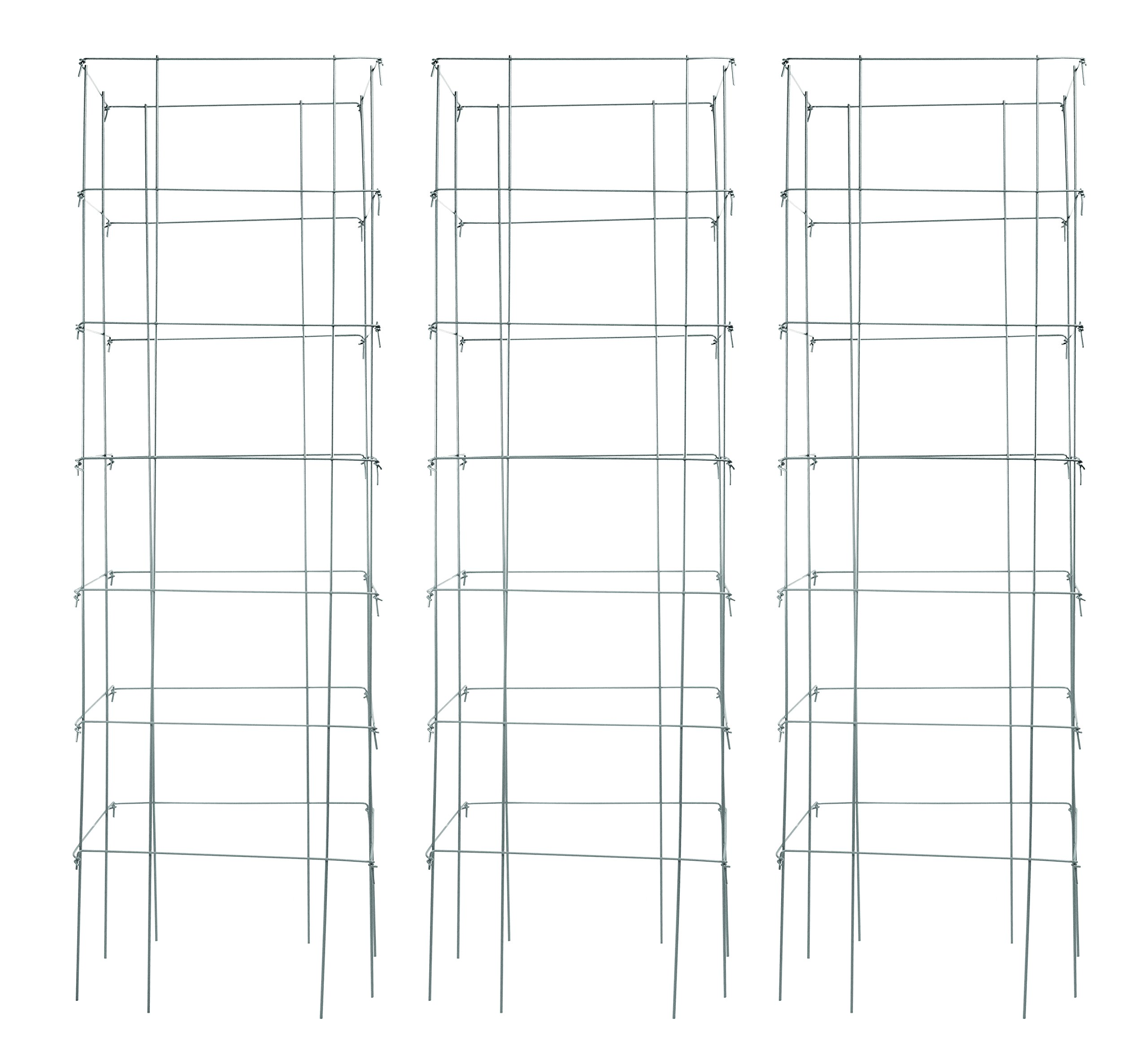 Burpee Extra Large Heavy Gauge Silver Tomato Cage | 3 Cages | 18'' x 18'' x 58'' | Made in the USA