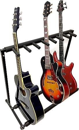 7 Guitarra Negro metal acolchado plegable Stand, guitarra acústica ...