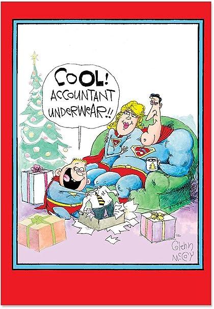 Christmas Accountant.Accountant Underwear Set Of 12 Humor Christmas Cards